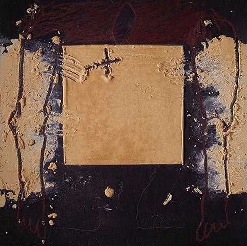 Quadrat ocre by Antoni Tàpies Puig