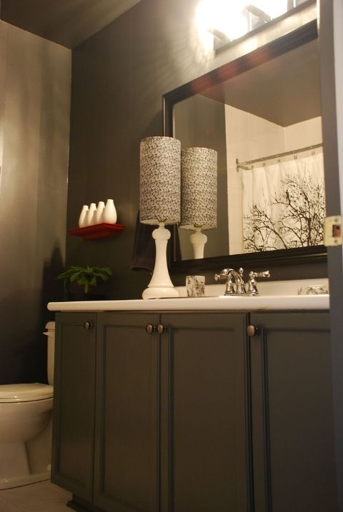 20 best images about contemporary powder room designs on for Small modern bathroom