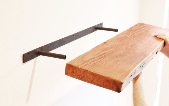 Custom Hidden Floating Shelf Bracket Hardware by SilicateStudio
