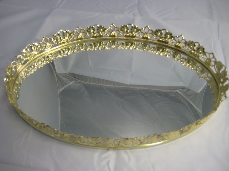 Victorian Tray Vintage Mirror | Vintage Vanity Mirror Tray Oval Shape  Gilded Floral Edge Victorian . - 189 Best VANITY TRAY Images On Pinterest Vanity Tray, Serving