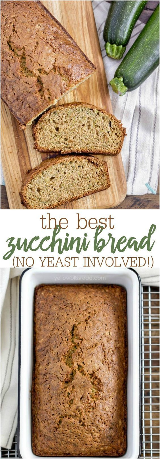 The BEST Zucchini Bread - so simple, flavorful and delicious. PLUS, no yeast involved!!!