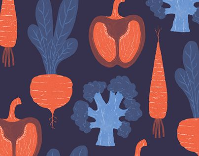 """Check out new work on my @Behance portfolio: """"Vegetable pattern"""" http://be.net/gallery/58636857/Vegetable-pattern"""