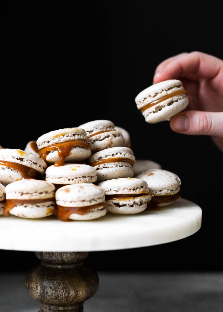 Chai Spiced Salted Caramel Macarons - Broma Bakery