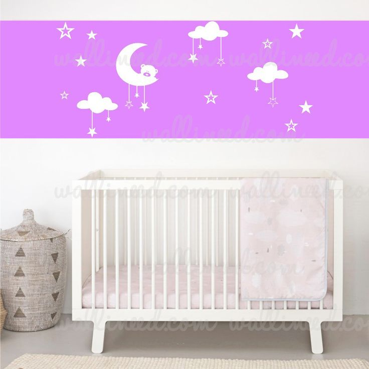 Moon Clouds And Stars Nursery Decor Wall Sticker