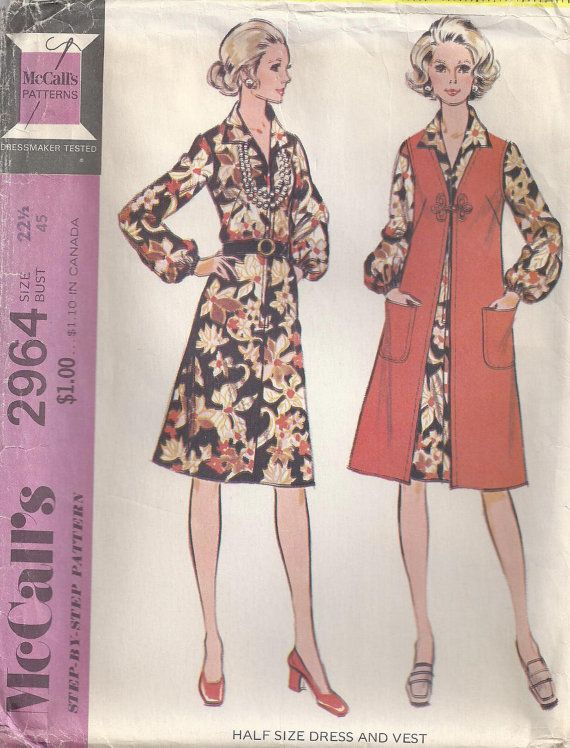 Front Zippered Dress And Lined Vest Womens Plus Size by Rosie247