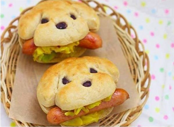 Wie man Dog-Shaped Hotdog-Sandwich macht