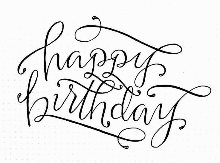 happy birthday lettering // by torrie t. asai                                                                                                                                                                                 Plus
