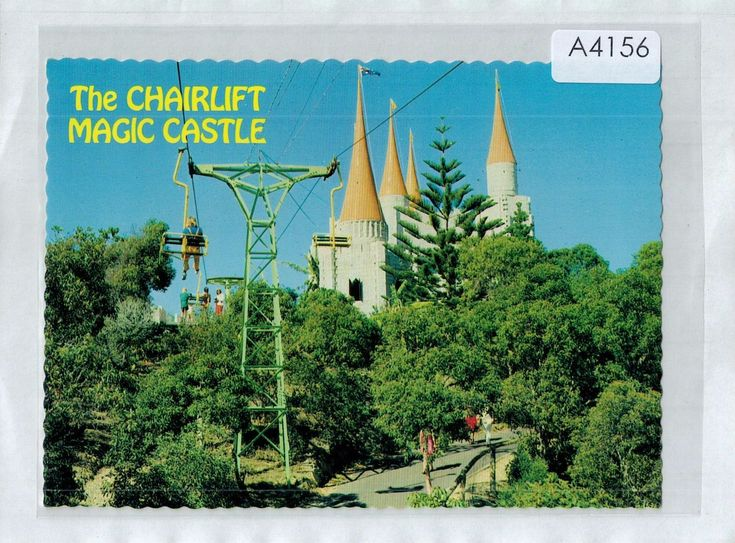 A4156cgt Australia Q Gold Coast Chairlift Magic Castle postcard | eBay