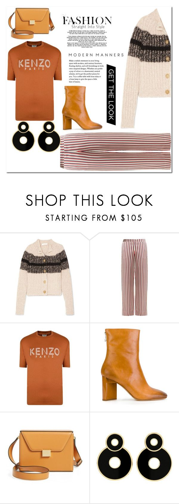 """""""Skripsi On Stripe"""" by muhammadtanim ❤ liked on Polyvore featuring Chloé, Asceno, Kenzo, Maison Margiela and Victoria Beckham"""
