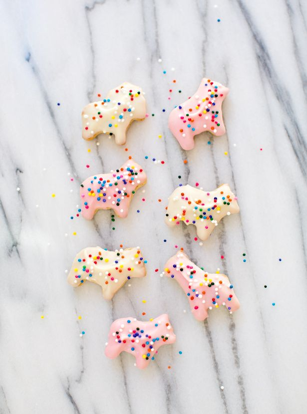 Recipe for homemade frosted animal cookies, perfect for a kids birthday party or Valentine's Day