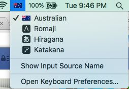 Input with Japanese? Open Keyboard Preferences and select Koteri and save. To change between English and Japanese typing input, go to where the flag is on their Mac and select the input option. When in Word, on FB, using Pinterest or wherever they want to type with Japanese, you now can do so! #Japaneseteacher #Japanese #hiragana #Macbook #IME #Language #ForeignLanguage