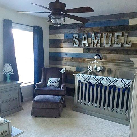 Creative, cool Carousel Designs nursery for a boy - designed by our fan Melissa