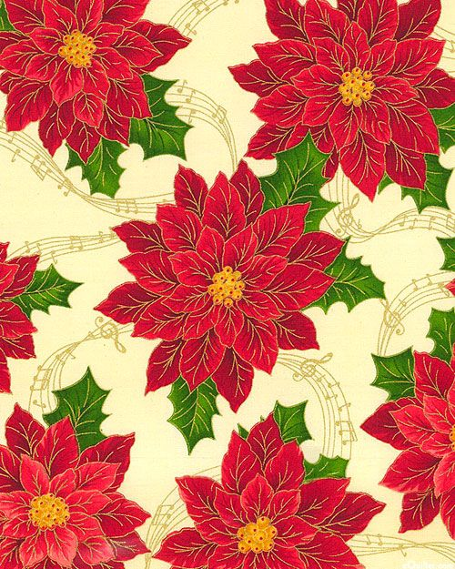 Sounds of the Season - Musical Poinsettia - Buttercreme/Gold