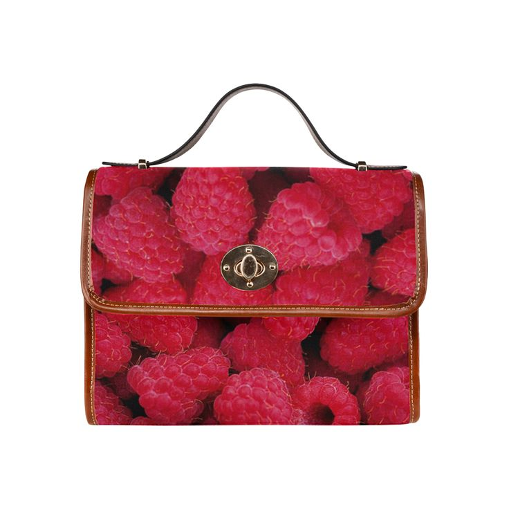 Raspberries Waterproof Canvas Bag/All Over Print. FREE Shipping. #artsadd #bags #fruits