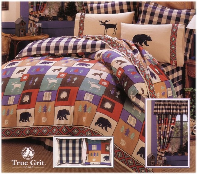 True Grit The Woods Polycotton Or Flannel Sheet Sets