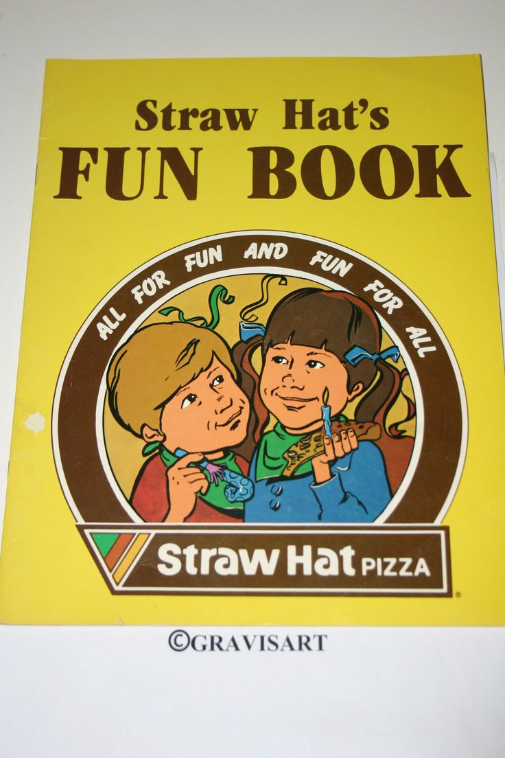 Straw Hat's Fun Book 1981 Straw Hat Pizza - 1