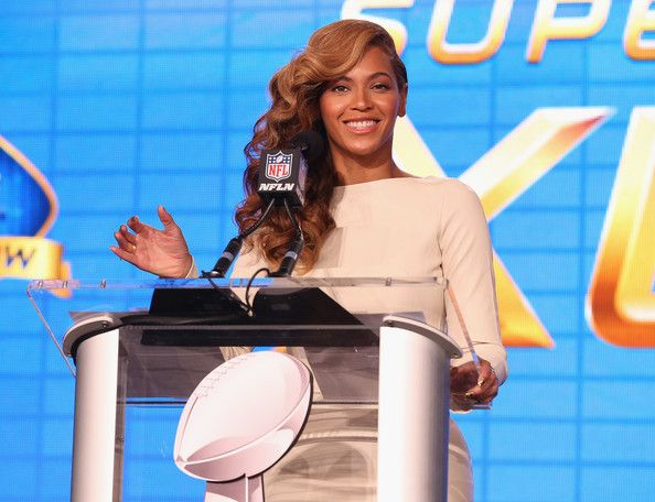 Beyonce Knowles Photos Photos - Beyonce speaks at the Pepsi Super Bowl XLVII Halftime Show Press Conference at the Ernest N. Morial Convention Center on January 31, 2013 in New Orleans, Louisiana. - Pepsi Super Bowl XLVII Halftime Show Press Conference