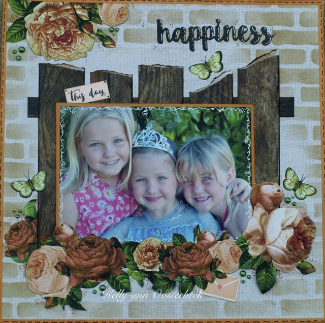 A layout by Kelly-ann Oosterbeek made using the Always & Forever Collection from Kaisercraft. www.amothersart.com.au
