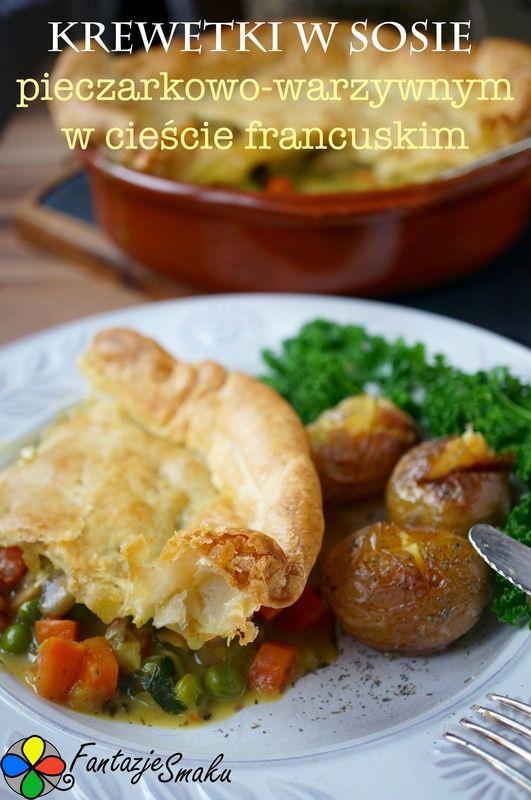 Krewetki w sosie pieczarkowo-warzywnym w cieście francuskim http://fantazjesmaku.weebly.com/blog-kulinarny/krewetki-w-sosie-pieczarkowo-warzywnym-w-ciescie-francuskim