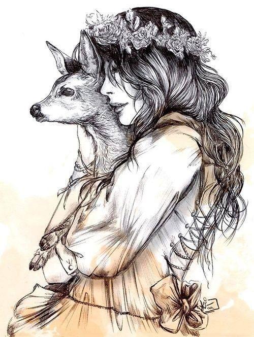 La Biche Honore moi de ta présence et vient danser au son du tambour Délivre moi ta médecine Belle Biche, tu es la grâce incarnée Destiné à l'amour L'amour inconditionnel L'instant présent Ce souffle vivant Dans l'ombre de la forêt Ton passage éclaire...