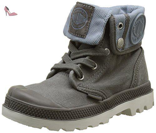 Palladium Baggy Zipper Ii, Hohe Sneakers Mixte Enfant, Gris (Pavement/Citadel/Silver Birch), 30 EU - Chaussures palladium (*Partner-Link)