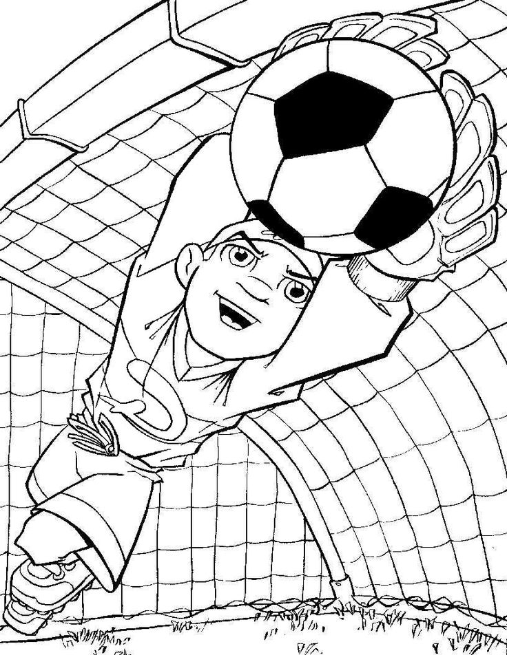 High Quality Best Goalkeeper Soccer Coloring Pages For Kids