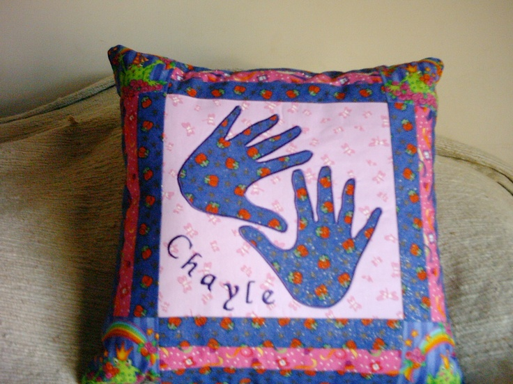 Cushion made for Chayle's birthday