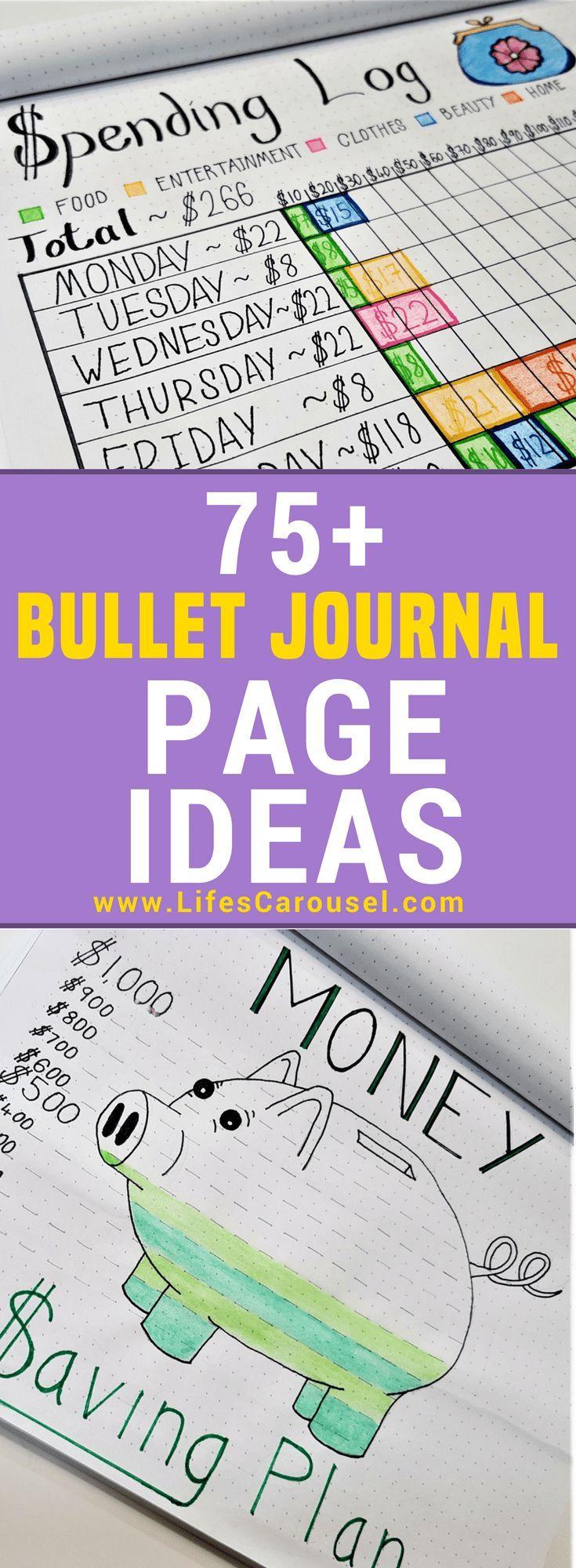 Ideen für mehr als 75 Bullet-Journale
