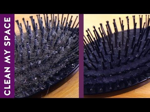 Get a Filthy Hairbrush Looking Like New In Under a Minute