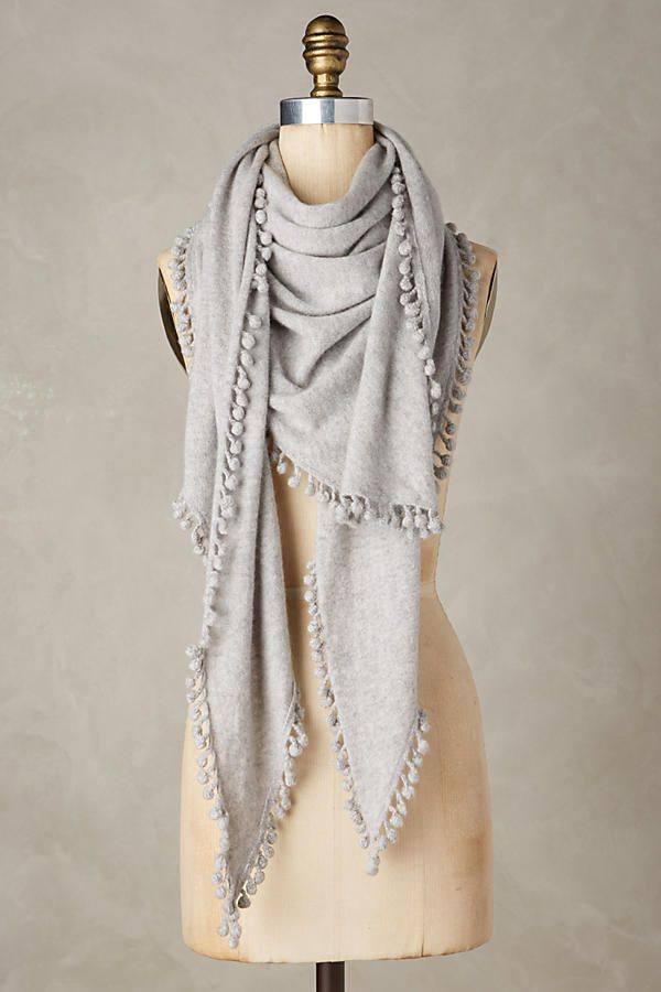 Pommed Cashmere Scarf