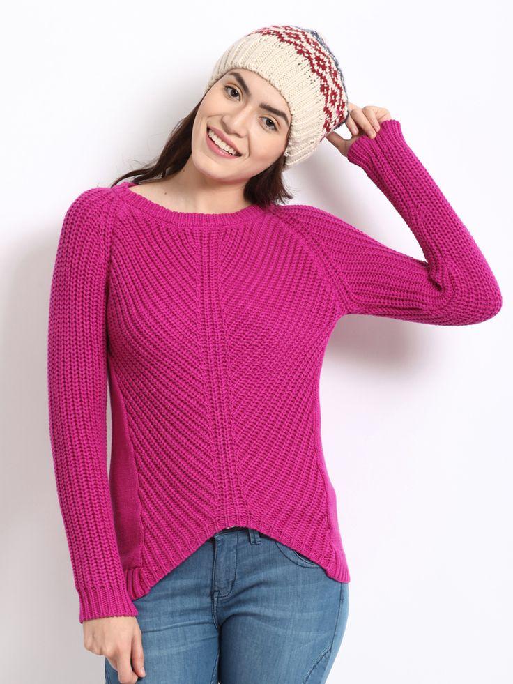 Elle-Women-Pink-Sweater