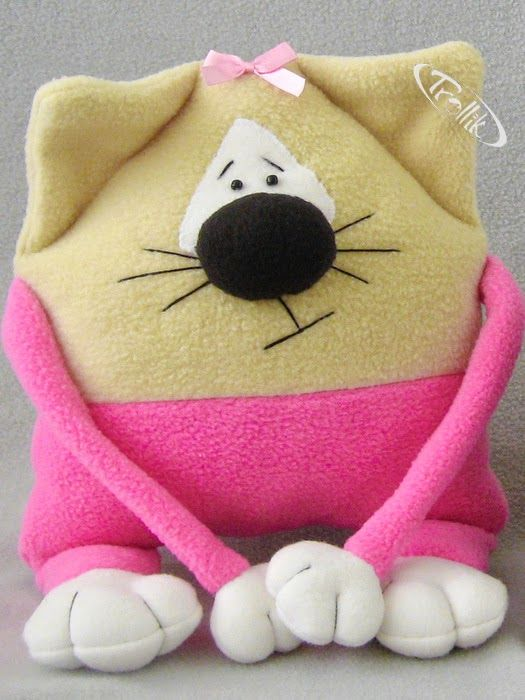 Gato de juguete suave colchón de lana