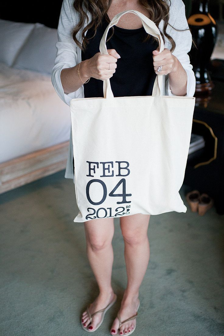 Welcome bags - perfect for rehearsal dinner gifts