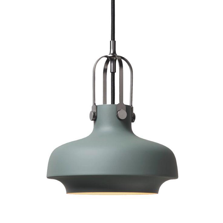 "SC 6 small Copenhagen pendant matte black 7.9"" dia, G9 bulb, regular black canopy"