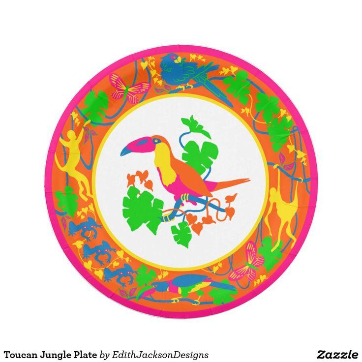 Toucan Jungle Plate. ParrotDecorative PaperJunglesPaper ...  sc 1 st  Pinterest & 24 best Elegant Decorative Paper Plates images on Pinterest ...