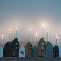 Houses of wood. Christmas town.