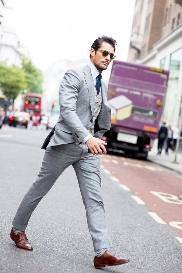 Best Grey Suit Brown Shoes Styles For Men  d32f844439f