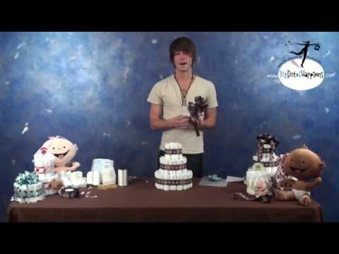 Best diaper cake video I have seen. Don't knock it because it's a guy, he knows what he's doing. #baby_shower #diaper_cake