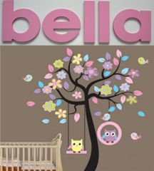 Combo Owl tree AND up to 5 wooden letters Visit www,theprettycollection.co.za or email info@theprettycollection.co.za
