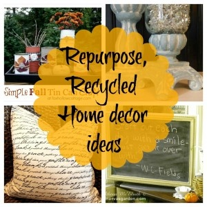 Debbiedoo's ~ Upcycled Repurposed home decor ideas {Newbie with a twist}