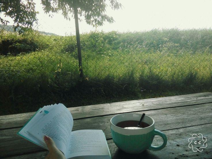 Ako lepšie začať deň než rebarborovým čajom a knihou ? ☕