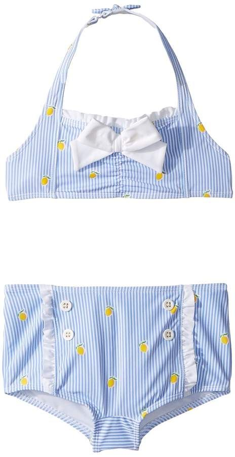 b5f8c36ee54004 Lemon Print Two-Piece Swim Set Girl's Swimwear Sets #print#lemon#Bikini