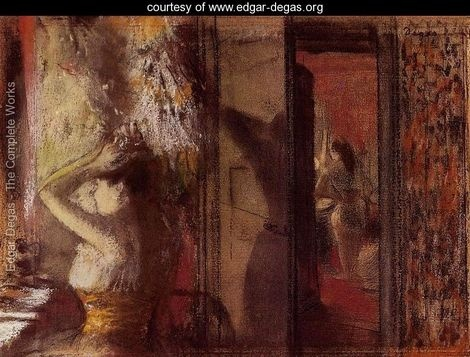 The Actresses Dressing Room - Edgar Degas - www.edgar-degas.org: Dressing Rooms, Genre Interiors, Dressings, Art, Degas Stunning, Dresses Room, Edgar Degas, Painting, Actresses Dresses