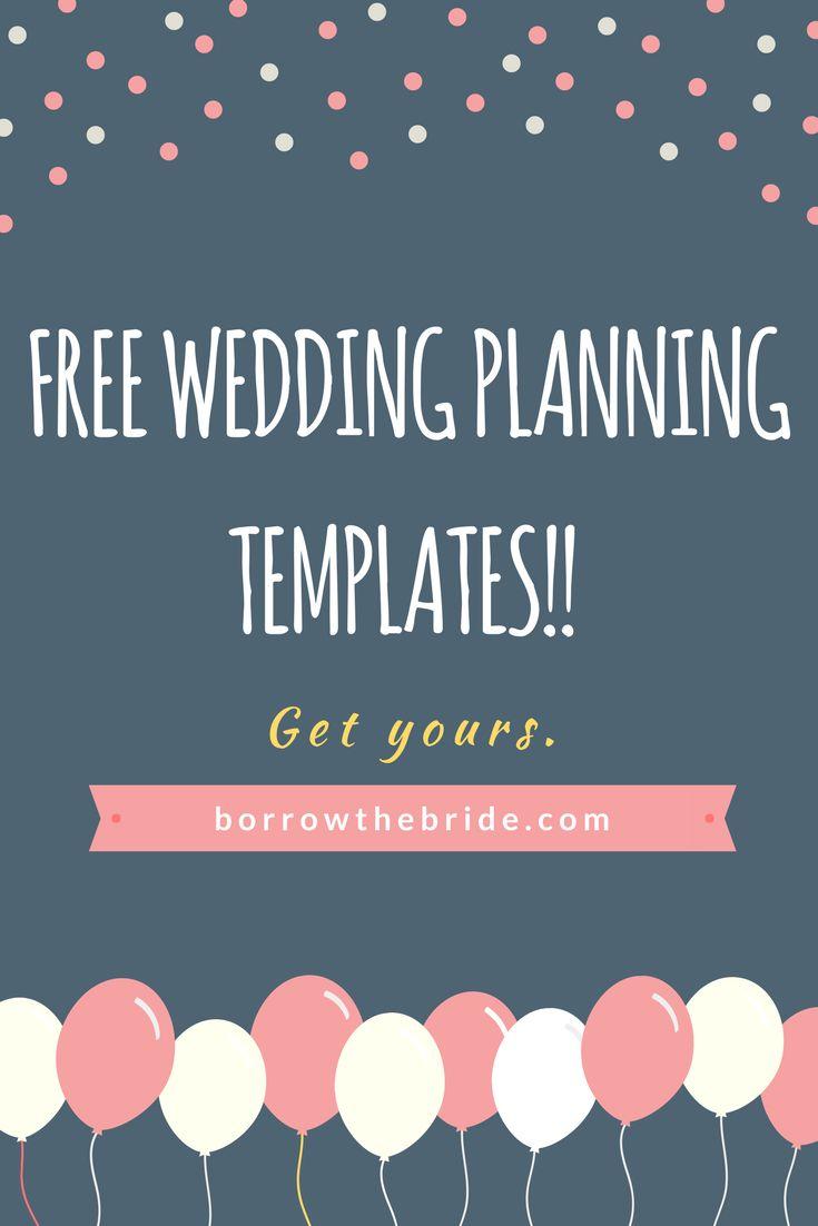 Free wedding planning templates. Guest list spreadsheet template. Budget spreadsheet template.