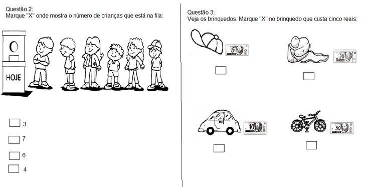 """Escola Municipal """"Luiz Vaz de Camões"""": Simulado Provinha Brasil - Matemática"""