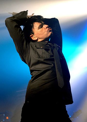 Gary Numan, lord of the darkwave dance and goth-metal master.