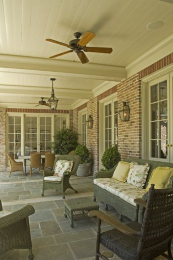 Old Buckhead Estate 05  Covered Porch by Spitzmiller & Norris, Inc.
