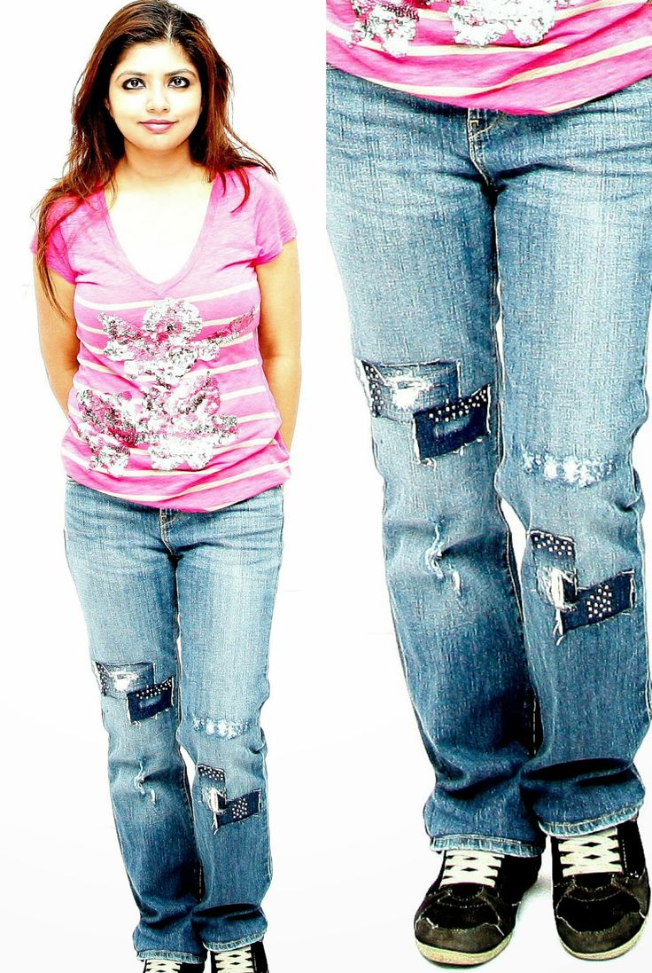 Have old boring jeans,which needs upgrade,try this DIY trick which will bring your jeans in front row with not one,not two,exactly three trend tips in one shot http://www.spiceupboringlife.com/
