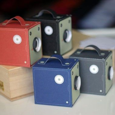 Printable paper cameras - party favor - retro