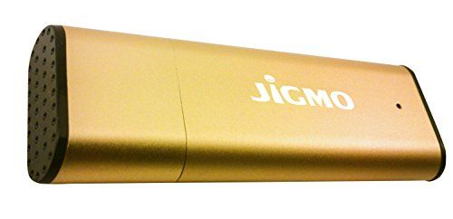 JiGMO Voice Activated Digital Recorder [Gold] With USB - 8GB / 96 Hrs Capacity Mini Spy Recorder - Audio Recording Device With Microphone! With 2 Lanyards